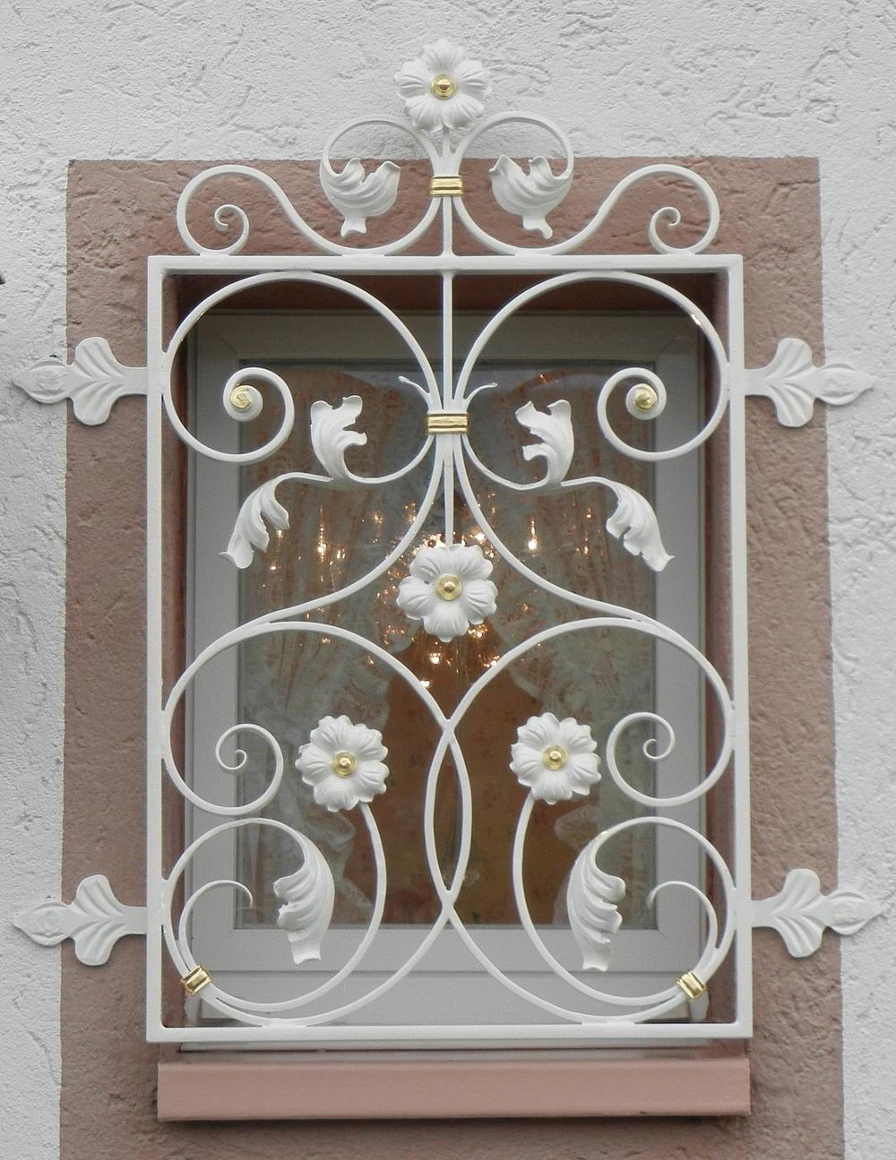 Fenstergitter klettgauer kunstschmiede for Puertas balcon usadas